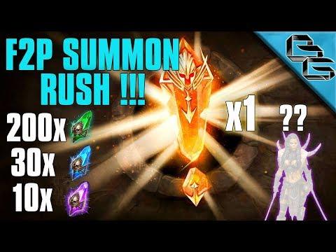 RAID: Shadow Legends | F2P Summon Rush !!! |...5 & 6 LOL!?! | Ep.7