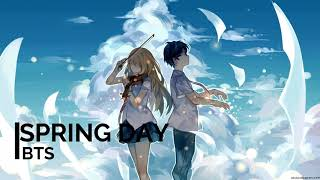 [NIGHTCORE] BTS - Spring Day (English Cover)