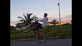 CRAZY BIKE STUNTS THROUGH MOHAMMEDIA CITY!!