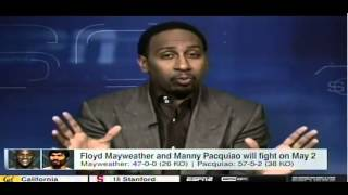Stephen A Smith on Mayweather vs Pacquiao It's not the biggest fight in history!