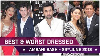 Priyanka Chopra, Alia Bhatt, Ranbir Kapoor : Best and Worst Dressed at Ambani Bash - June 29