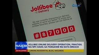 Saksi: Jollibee online delivery operation, pinatigil ng NPC dahil sa panganib ng data breach