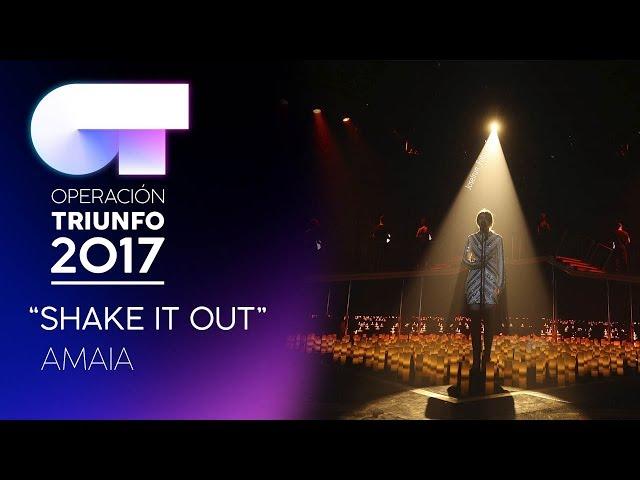 Vídeo de Amaia Romero cantando Shake It Out