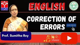 GURUKULAM ||  English -  Correction of Errors  ||  LIVE INTERACTIVE SESSION With Sumitha Roy width=