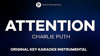Charlie Puth - Attention [ Original Key Instrumental Karaoke ]