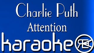 Charlie Puth  - Attention (Karaoke Version/\Cover, Instrumental with lyrics)