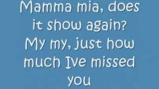 ABBA Mamma Mia lyrics