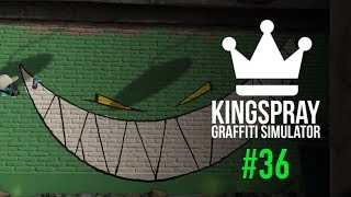 "[ Kingspray Graffiti ] EP36: Painting a huge green ""Feed Me"" mural"