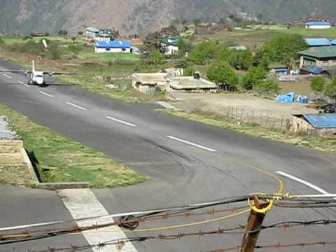 Landing plane, Lukla Airport, Nepal – Khumbu region 05/2009