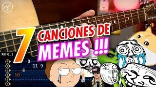 7 Canciones de MEMES para Guitarra | MEME SONGS ON GUITAR | Christianvib