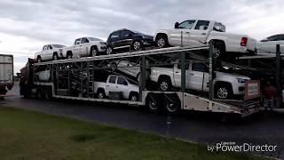 Caminhão cegonha carregada no limite carreta tecnoceg