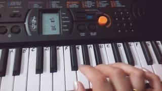 TeraMujhse Hai Pehle Ka Nata Koi on Keyboard Piano| Aa Gale Lag Ja|  Easy Keyboard