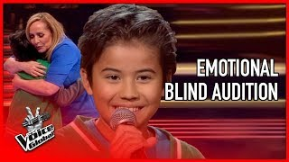 Cute boy honors mother with EMOTIONAL SONG | The Voice Global