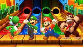 Mario Party: Star Rush Minigames - Mario vs Donkey Kong vs Luigi vs Yoshi