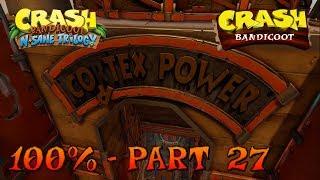 Crash Bandicoot - N. Sane Trilogy - 100% Walkthrough, Part 27: Cortex Power (Gem)