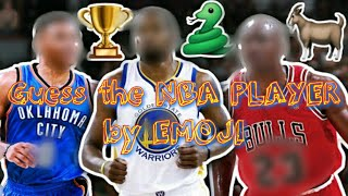 GUESS The NBA PLAYER by EMOJI!!