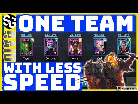 RAID SHADOW LEGENDS | THE ONE TEAM! LESS GEAR | FK20 LETS GO!