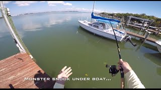 Day 4 of Fishing With Wounded Warrior Scott Lilley (Scott's last day, big snook, & paddle-surfing)