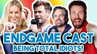 AVENGERS ENDGAME CAST BEING COMPLETE IDIOTS FOR 12 MINS STRAIGHT | FUNNY MOMENTS 2019