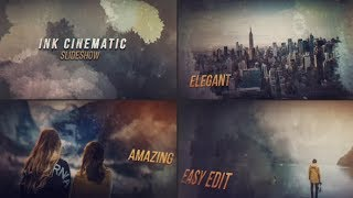 Ink Cinematic Slideshow | After Effects template