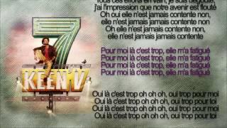 keen'v - là c'est trop (officiel video lyrics )