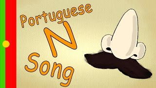 Portuguese alphabet for children - N Song / Learn languages fast and easy