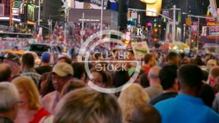 NEW YORK, USA - CIRCA JULY 2016: New York City people walk on Times Square in Manhattan