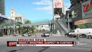 Deadly shooting leads to standoff on the Las Vegas Strip