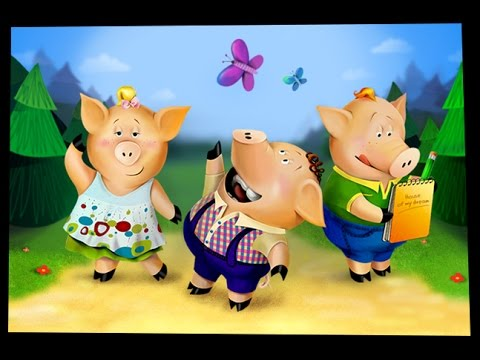 Three Little Pigs bedtime story for kids