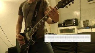 Linkin Park - Hit the Floor Guitar Cover w/Tabs on screen