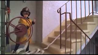 the little rascals - clubhouse on fire scene