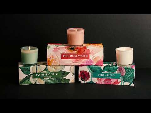 Blossom Scented Candle Gift Set Pink Rosewater Set 3