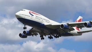 Heathrow Plane spotting British Airways Arrivals Runway 27L [1080p HD]