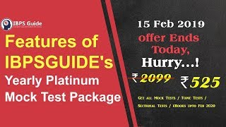 Features of IBPSGUIDE's Yearly Platinum Mock Test Package