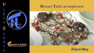 Dessert Table art explosion / Eucalyptos Restaurant Β΄