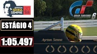 GT6 - Tributo a Ayrton Senna - Estágio 4 - 1:05.497