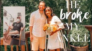 My Fiance Broke My Ankle & I Vlogged the Whole Thing | INTERRACIAL COUPLE | BOSTON VLOG