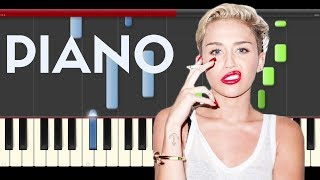 Miley Cyrus Hands Of Love Piano tutorial midi Cover Sheet Partitura