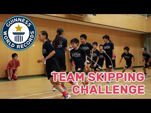 驚人的團隊跳過挑戰! - 吉尼斯世界紀錄