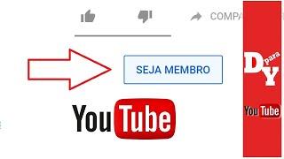 Botão De Patrocínio BETA Liberado - SEJA MEMBRO Clubes dos canais🔴