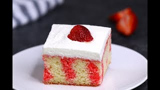 The Best Strawberry Poke Cake
