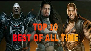 Top10:strongest finisher move in wwe immortals