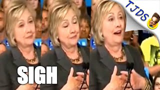 You'll Sigh Watching Hillary Read 'Sigh' Off Her Teleprompter