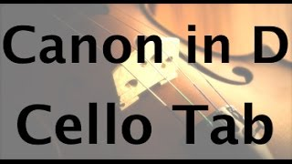 How to play Canon in D on the Cello