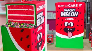 GIANT Juice Box Cake with JUICE INSIDE!! | How To Cake It width=