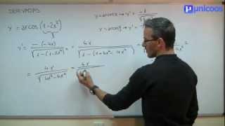Imagen en miniatura para Derivada de ARCOCOSENO funcion trigonometrica inversa