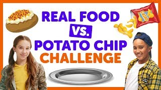 Real Food vs. Potato Chip Challenge with Isaiah & Liv from The KIDZ BOP Kids