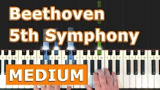 Beethoven Symphony 5 - Piano Tutorial Easy - 5th Symphony -  No. 5 - How To Play (Synthesia)