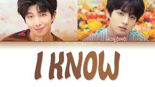 BTS JUNGKOOK & RM - I KNOW (알아요) (Color Coded Lyrics Eng/Rom/Han/가사)