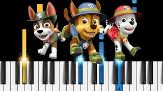 PAW Patrol Theme Song - EASY Piano Tutorial